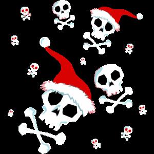 Santa Skull Weihnachten Santa Claus Skulls