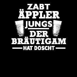 Hessen JGA zapft Äppler Jungs der Bräutigam