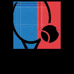 Tennis Tennisball Tennisschläger Retro Geschenk