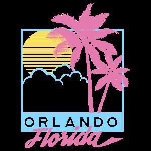 Orlando Beach FL, Florida Tee, Vintage Stranddruck
