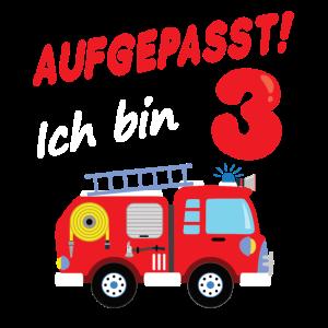 Feuerwehrauto 3. Geburtstag 3 Jahre Geschenk