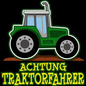 Achtung Traktorfahrer HARIZ Auto Kind Jungen