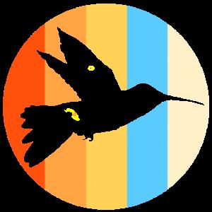 Kolibri Retro Vintage Vogel 70er