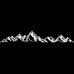 Gebirge Berg Bergkette Panorama Linie