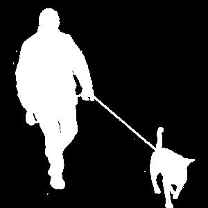 Spaziergang mit Hund Gassi Leine