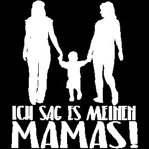 Ich sag es meinen Mamas Schriftzug Design