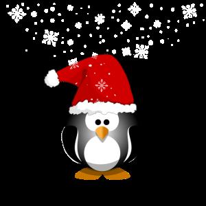 Frohe Weihnachten Pinguin Schneemann Weihnachtsman