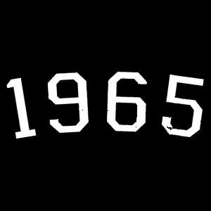 Jahr 1965 Geburtstag Design (Weiß)