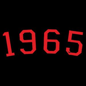 Jahrgang 1965 Geburtstag Jahr (Vintage Rot)