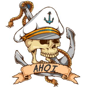Matrose Ahoi Anker Totenkopf