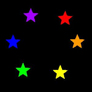 Bunte Sterne Regenbogen Geschenkidee
