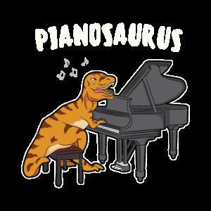 Pianosaurus Dinosaurier Piano Klavier Pianist Dino
