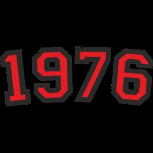 Jahr 1976 Geburtstag Jahrgang Design (Rot)