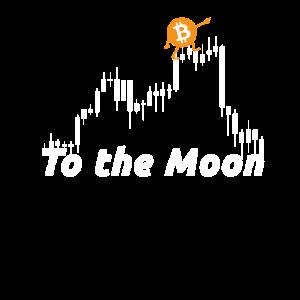 Bitcoin trader climbing to the moon Clip art