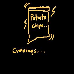 Verlangen Kartoffelchips