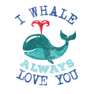 I whale always love you Wal Liebe Shirt used look