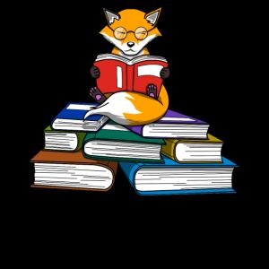 Fuchs Bücher Bücherwurm Lesen Leser Geschenk