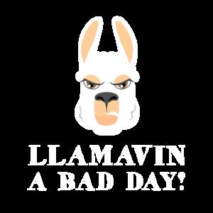 Llamavin ein schlechter Tag   Niedliches und lustiges Lama-Geschenk,