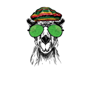 Llaman   Lustiges Rasta Reggae Lama Geschenk   Gras