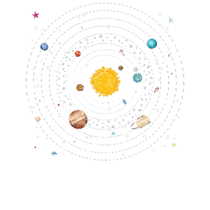 Sonnensystem Planet Erde Mars Jupiter Saturn