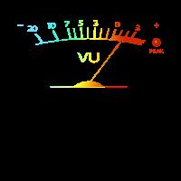 VU Meter Hi-Fi Vintage Stereo Audiophile bunt