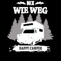 Nix wie weg happy camper