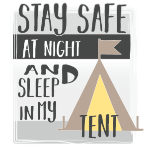 Stay safe at night and sleep in my tent | Camping