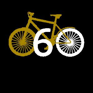 60 60. sechzig Geburtstag Fahrrad Geschenk