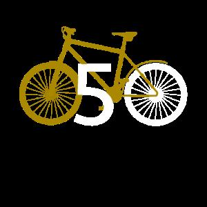 50 50. fünfzig Geburtstag Fahrrad Geschenk