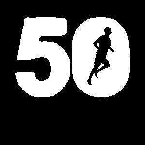 50 50. fünfzig Geburtstag Joggen Laufen Geschenk