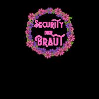 Junggesellinabschied Security der Braut Blumen