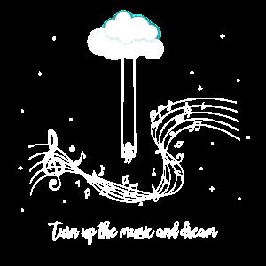 Drehen Sie die Musik auf und träumen Sie