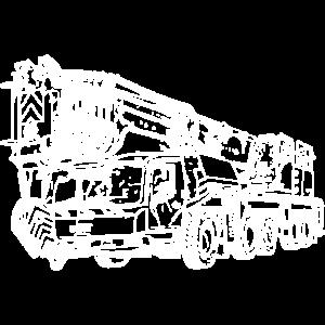 Kran crane Mobilkran 5 Achser weiß 250 5250