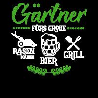Gaertner fuers Grobe Rasen Bier Grill Gaertner