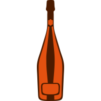 Champagner flasche 24064