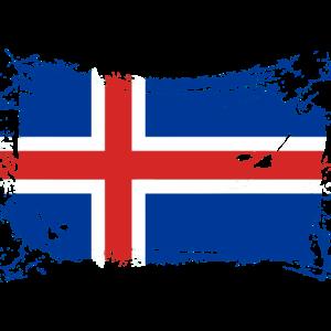 Island Flagge / Iceland flag
