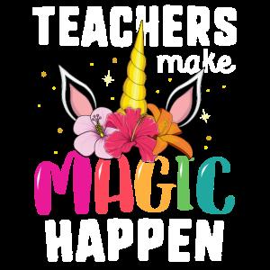 Lehrer lassen Magie zurück zu Schule-T-Shirt geschehen