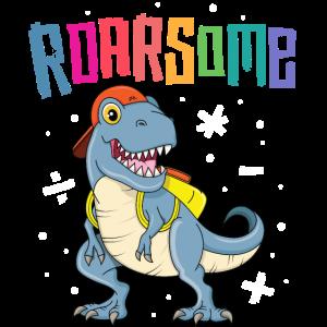Roarsome T Rex Zurück in die Schule TShirt Kids Boys
