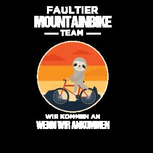 Faultier Mountainbike Team Geschenk