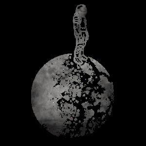 Mann auf dem Mond Astronaut