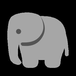 Grauer Baby Elefant