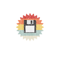 Never Forget Diskette Retro Vintage Logo Sonne