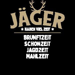 Jaeger haben viel Zeit Brunftzeit Schonzeit Jag