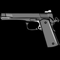 Waffen Pistole schiessen