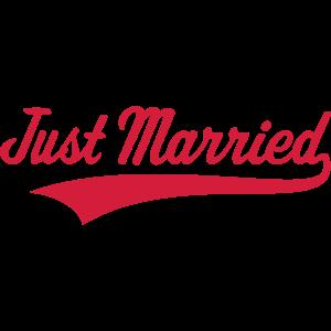 Just Married Hochzeit Heirat