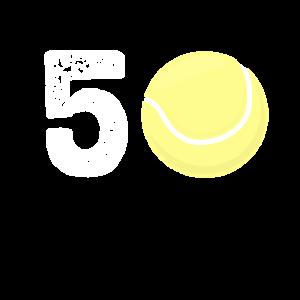 50. fünfzigster Geburtstag Tennis Geschenk