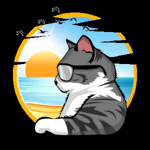 relax cat katze urlaub holiday shirt geschenk