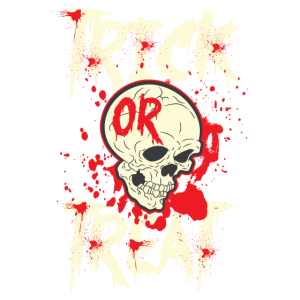 Trick or treat halloween Schädel gruselig Geschenk