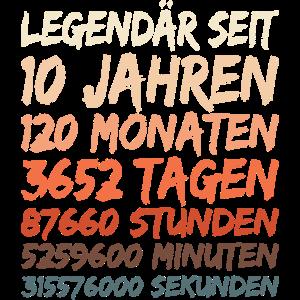 10. Geburtstag - Legendär seit 10 Jahren