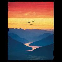 Landschaft / Berge / Sonnenuntergang / Vögel
